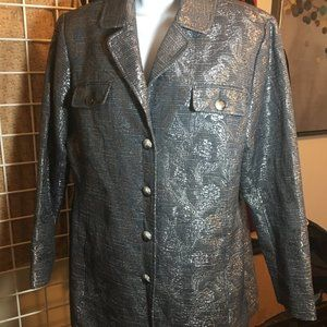 Additions by Chico's 2 Metallic Tunic Jacket!